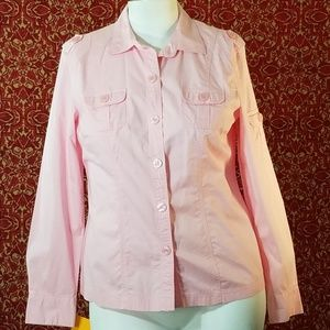 STYLE & CO pink shirt blouse 12